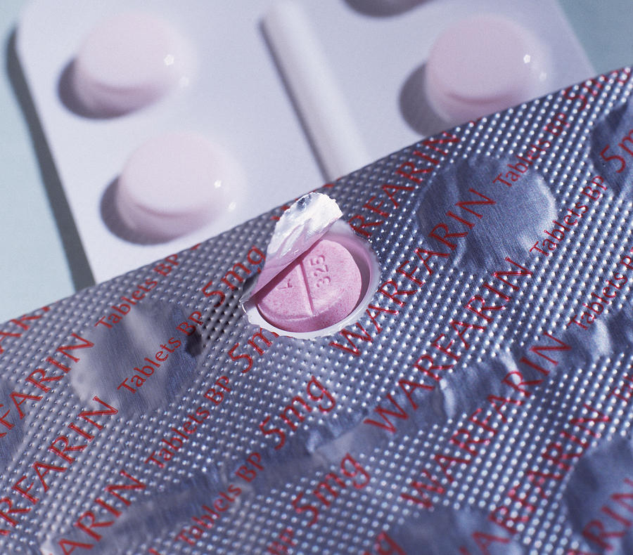 Tablets Photograph - Warfarin Tablets by Tek Image