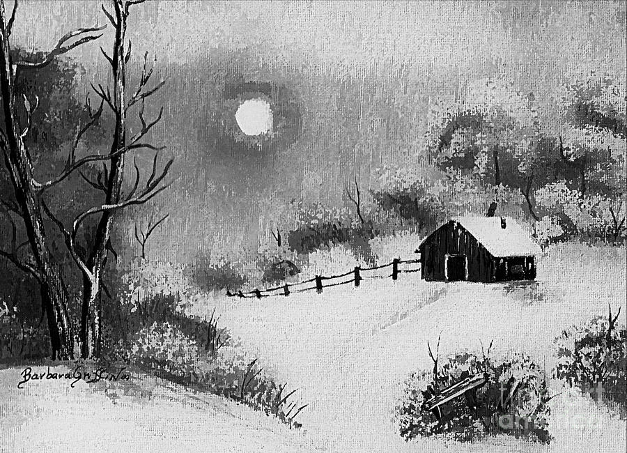Warm Day Painting - Warm Day  B And W by Barbara Griffin