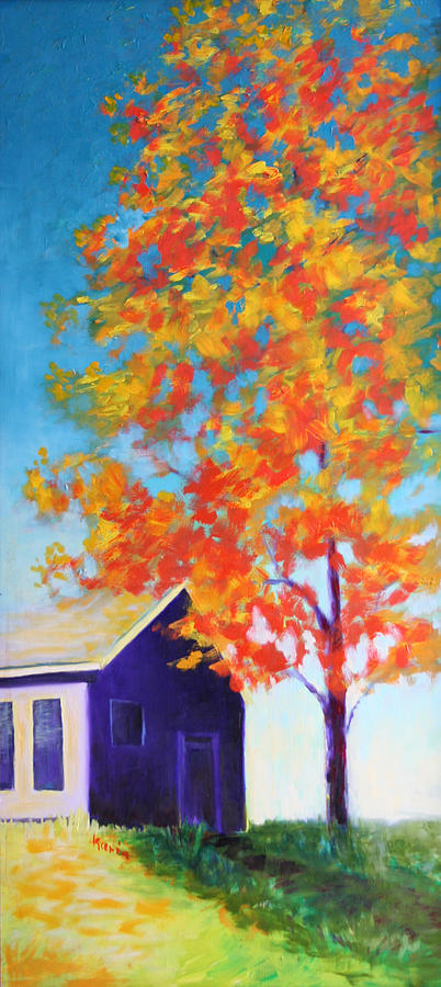 Landscape Painting - Warm Day In Fall by Karin Eisermann