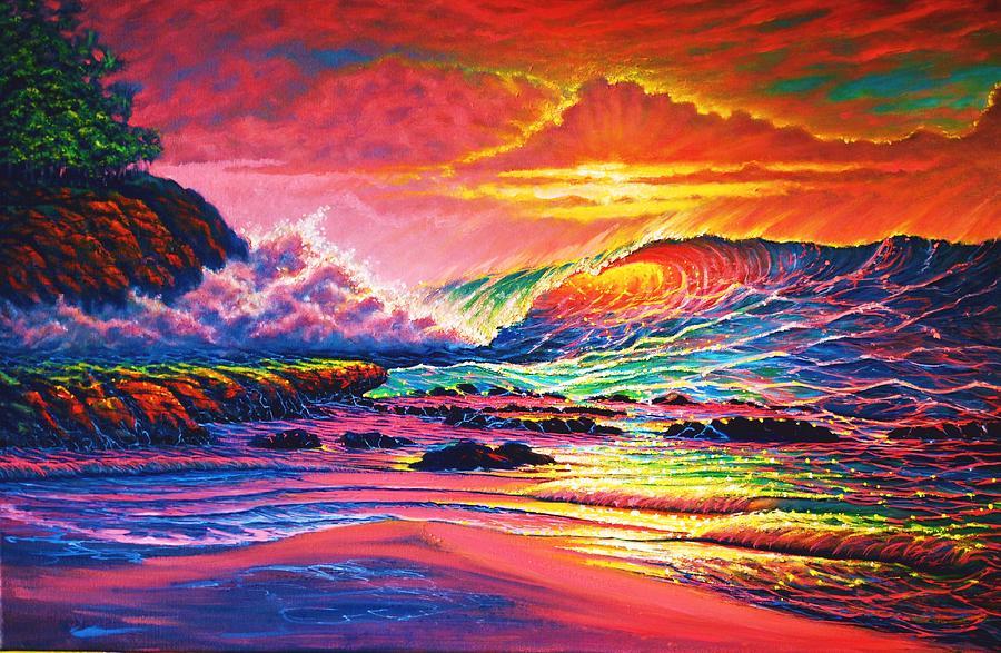 Seascape Painting - Warm Glow by Joseph   Ruff