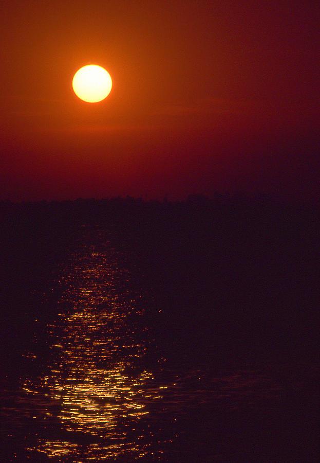 Dusk Photograph - Warm Sunset by Al Hurley