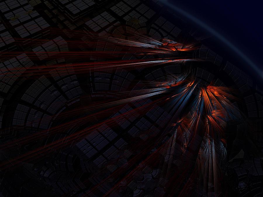 Fractal Digital Art - Warp 8 by Nafets Nuarb