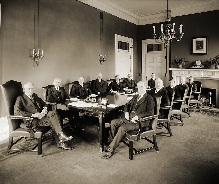 History Photograph - Warren G. Harding S Cabinet In 1921 by Everett