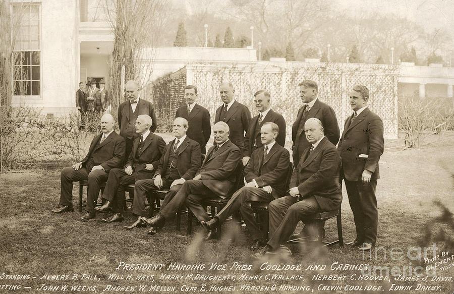 Warren Harding Cabinet Photograph by Granger