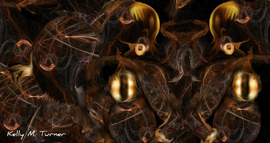 Woman Digital Art - Warrior by Kelly Turner