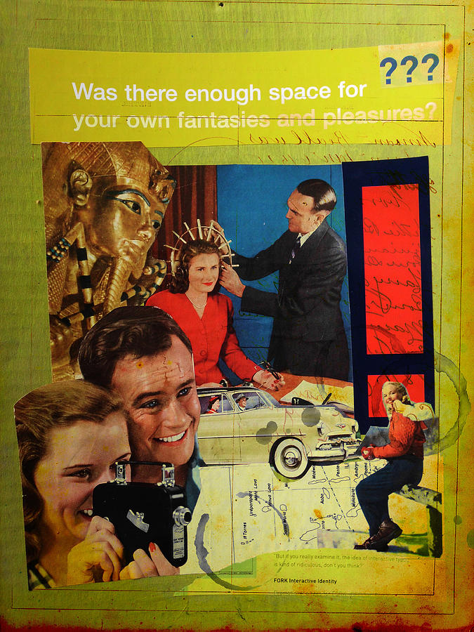 Collage Mixed Media - Was There Enough Space... by Adam Kissel