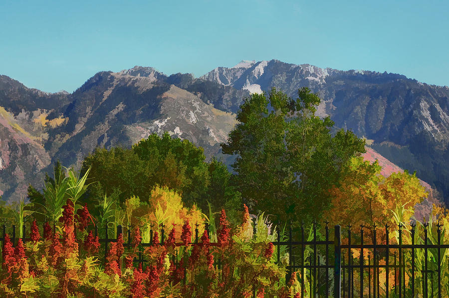 Wasatch Mountains Painting - Wasatch Mountains In Autumn Painting by Tracie Kaska
