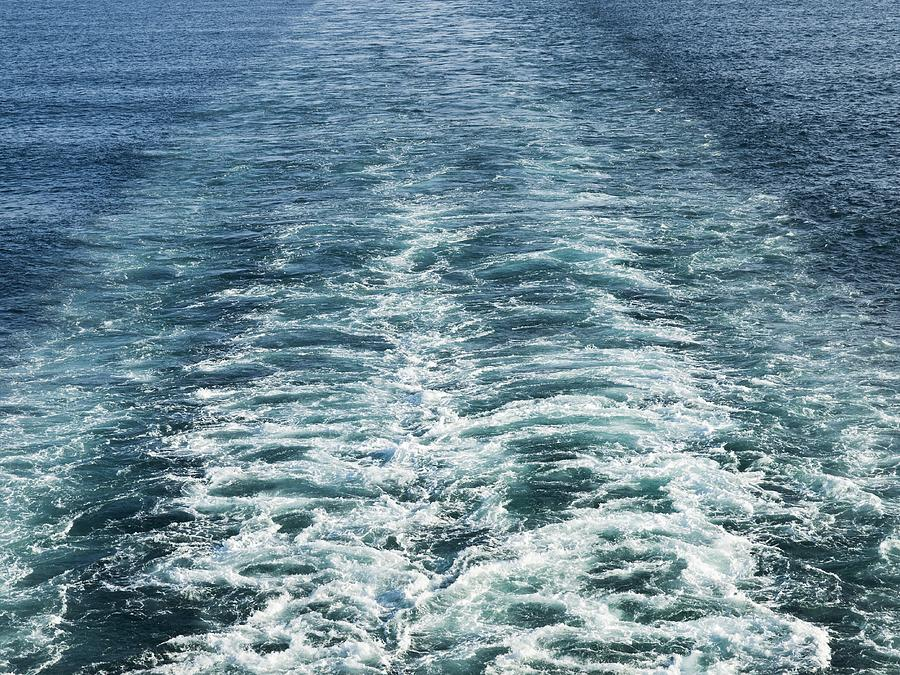 Water Photograph - Wash Behind A Cross-channel Ferry by Adrian Bicker