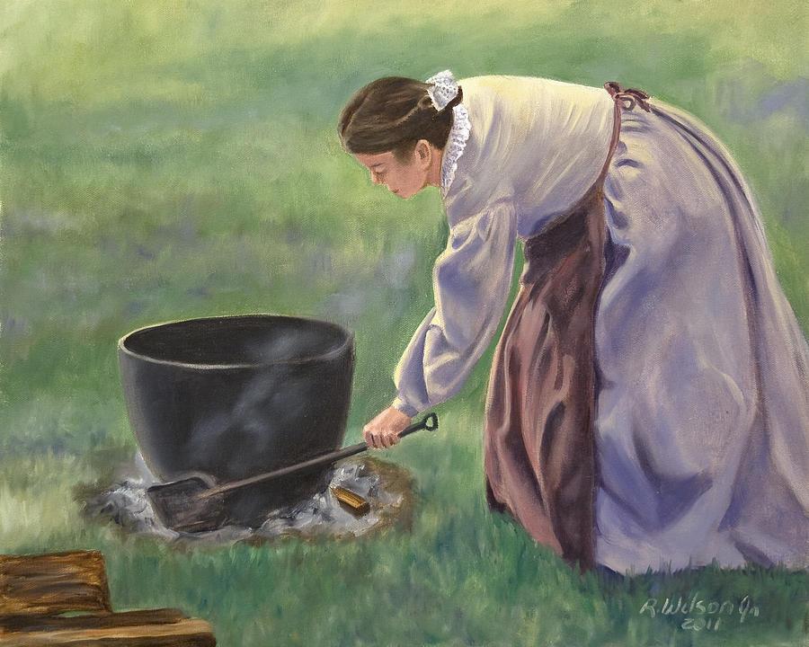 Civil War Painting - Wash Day II by Karen Wilson
