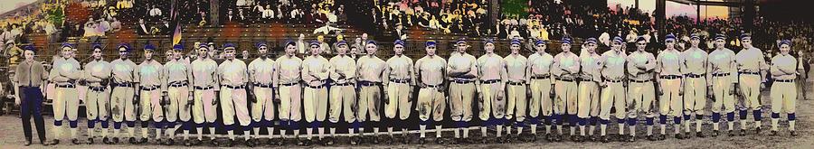 Sports Mixed Media - Washington Baseball by Charles Shoup