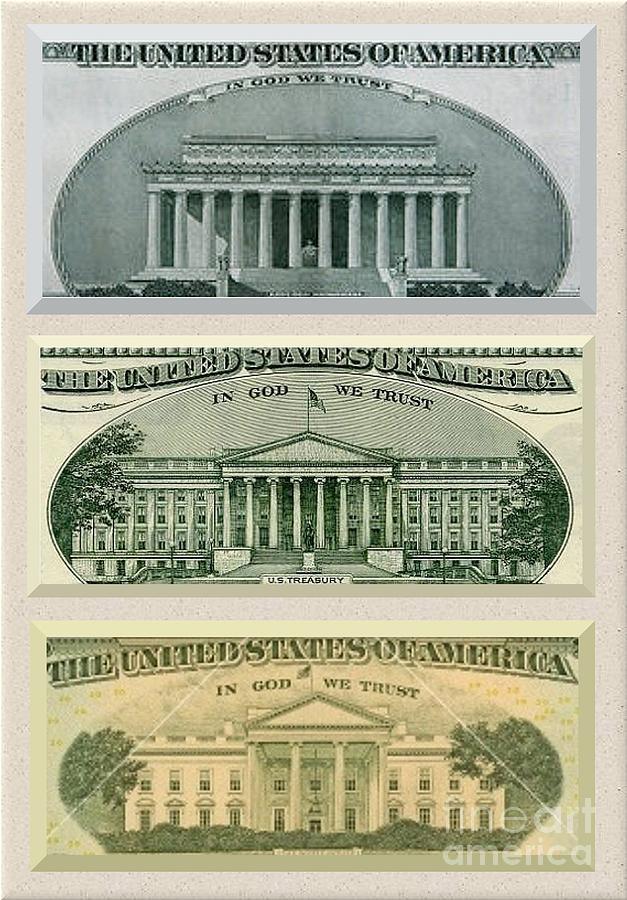 Us Currency Photograph - Washington D.c. Landmarks by Charles Robinson