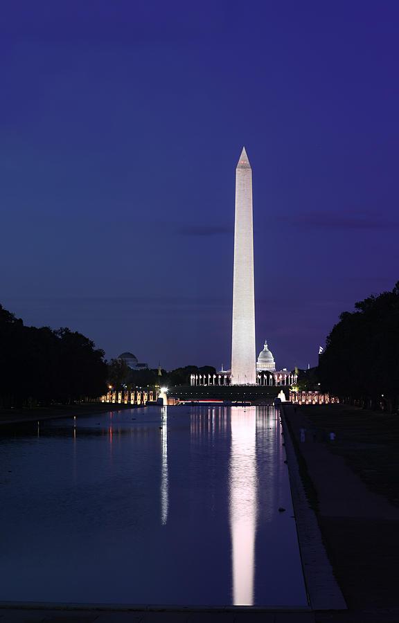 Metro Photograph - Washington Monument At Sunset by Metro DC Photography