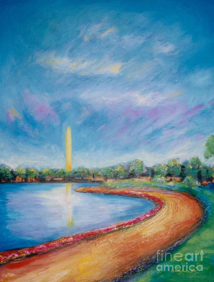 Washington Monument Painting - Washington Sky by Karen Francis