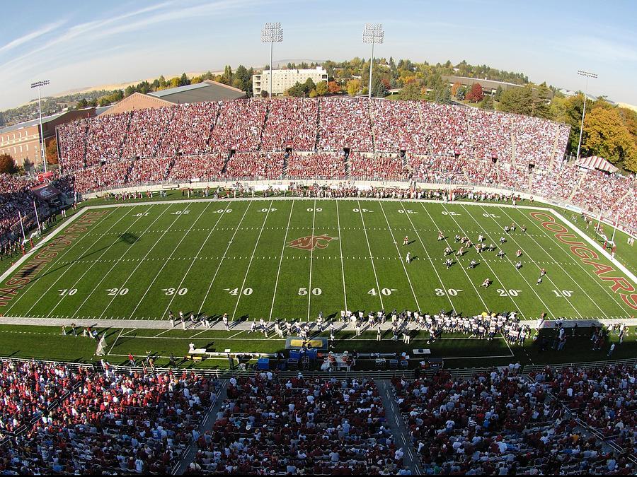 Washington State Football Photograph - Washington State Martin Stadium  by Washington State University - Marketing and Communications