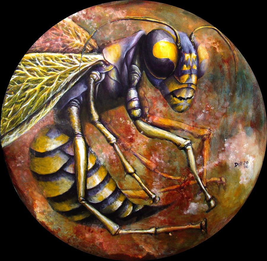 Wasp Painting by Rust Dill