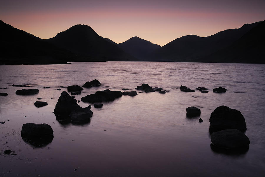 Wast Water Photograph - Wastwater 3.30am by Stewart Smith