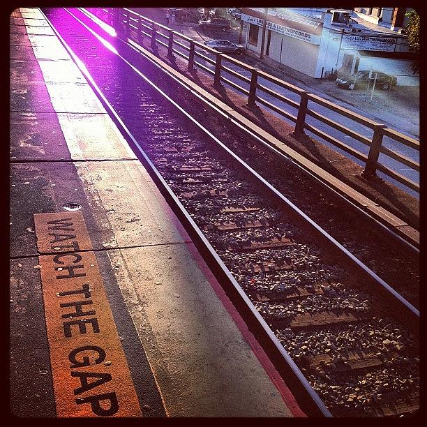 Train Tracks Photograph - Watch The Gap by FC Designs