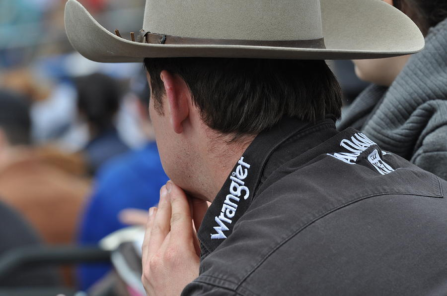 Cowboy Photograph - Watching The Rodeo by Malcolm  Chalmers