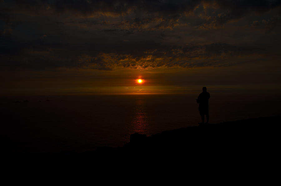 Sun Photograph - Watching The Sunset by Paul Howarth