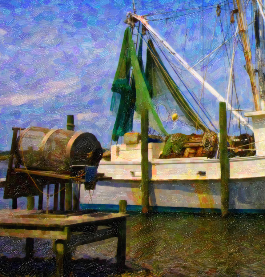 Ship Digital Art - Watching Within A Frame by Betsy Knapp