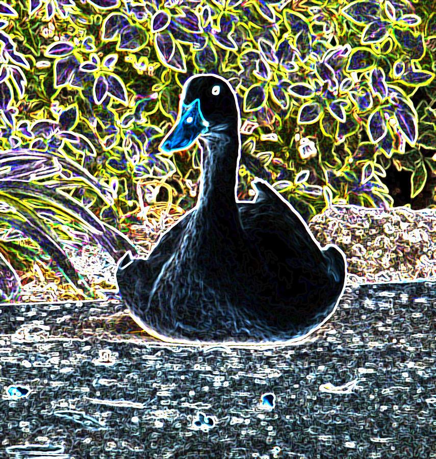 Glowing Photograph - Watching You by Dennis Dugan