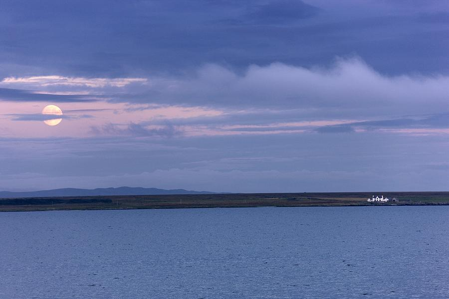 Atmospheric Photograph - Water And Dark Clouds by John Short
