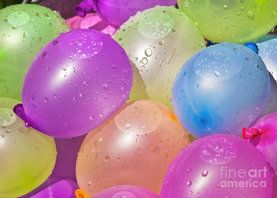 Balloons Photograph - Water Balloons by Patrick M Lynch