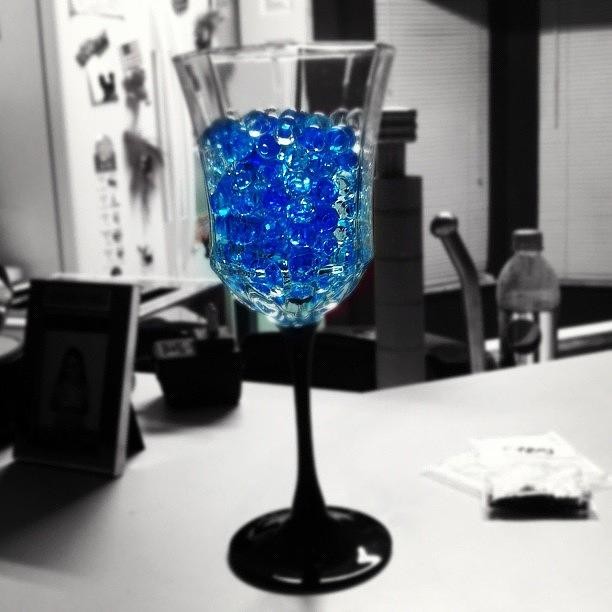 Water Beads In A Wine Glass :) Photograph by Zoe Sutter