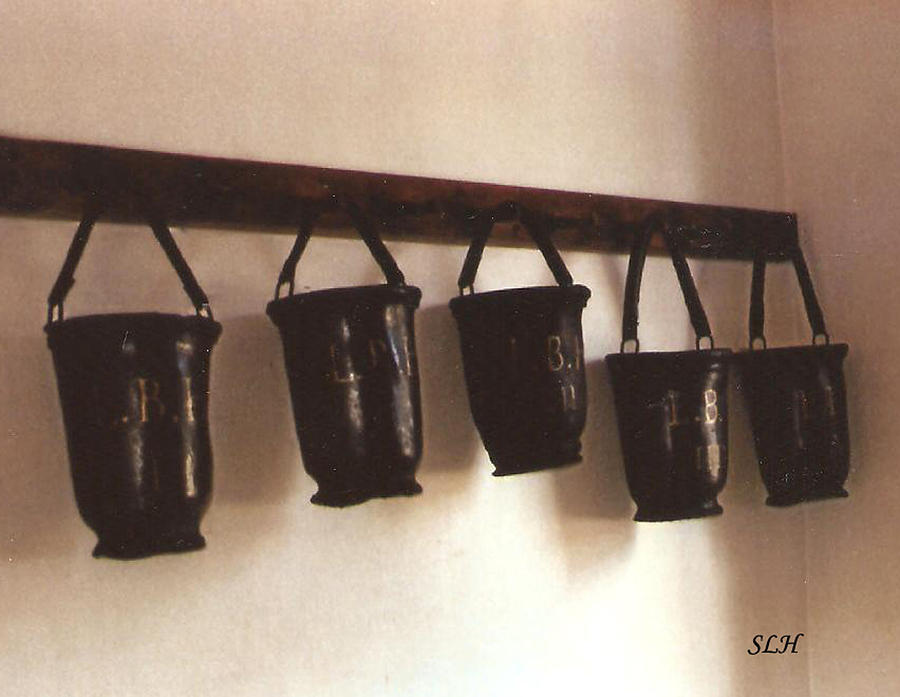 Prints Photograph - Water Buckets by Lee Hartsell