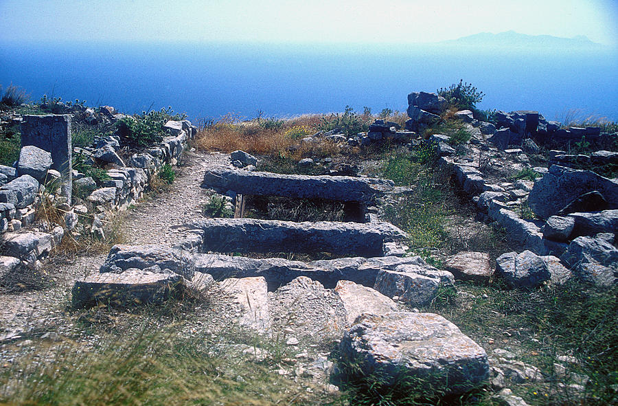 Archaeological Site Photograph - Water Cistern by Andonis Katanos