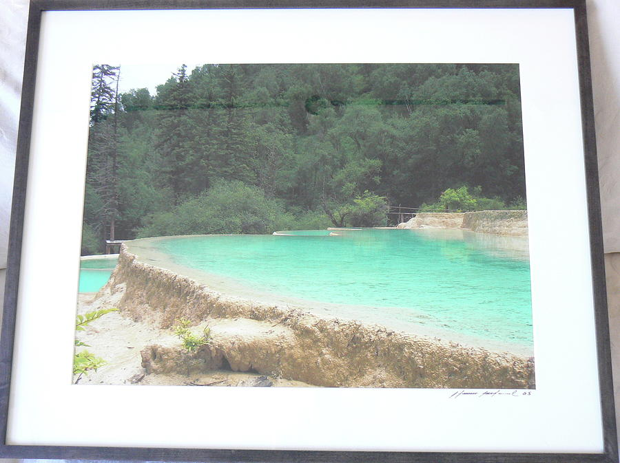 Green Photograph - Water Cliff by Steven Mendal