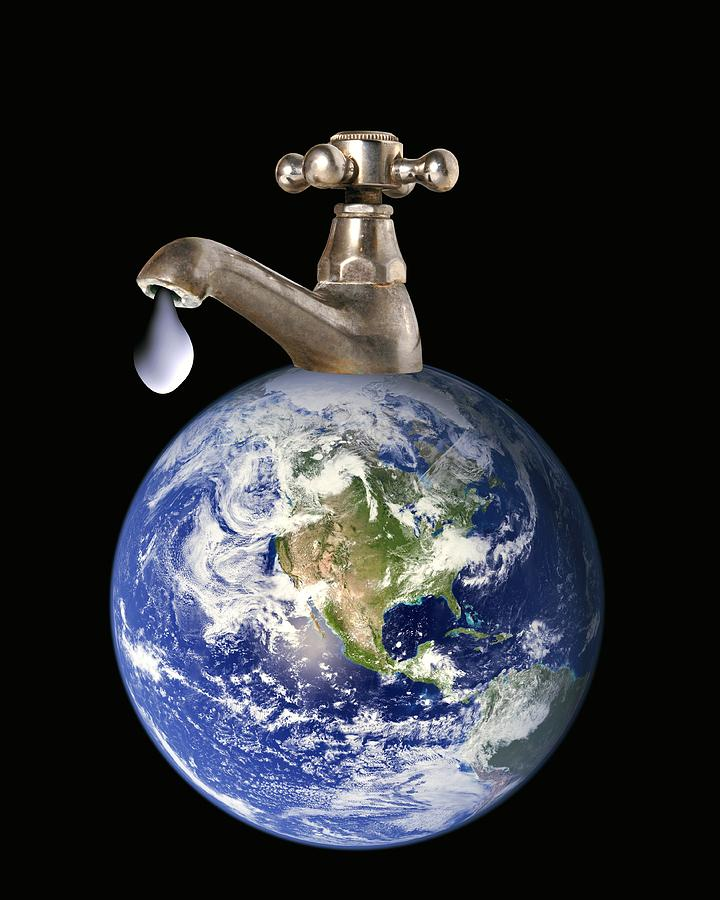 Earth Photograph - Water Conservation, Conceptual Image by Victor De Schwanberg