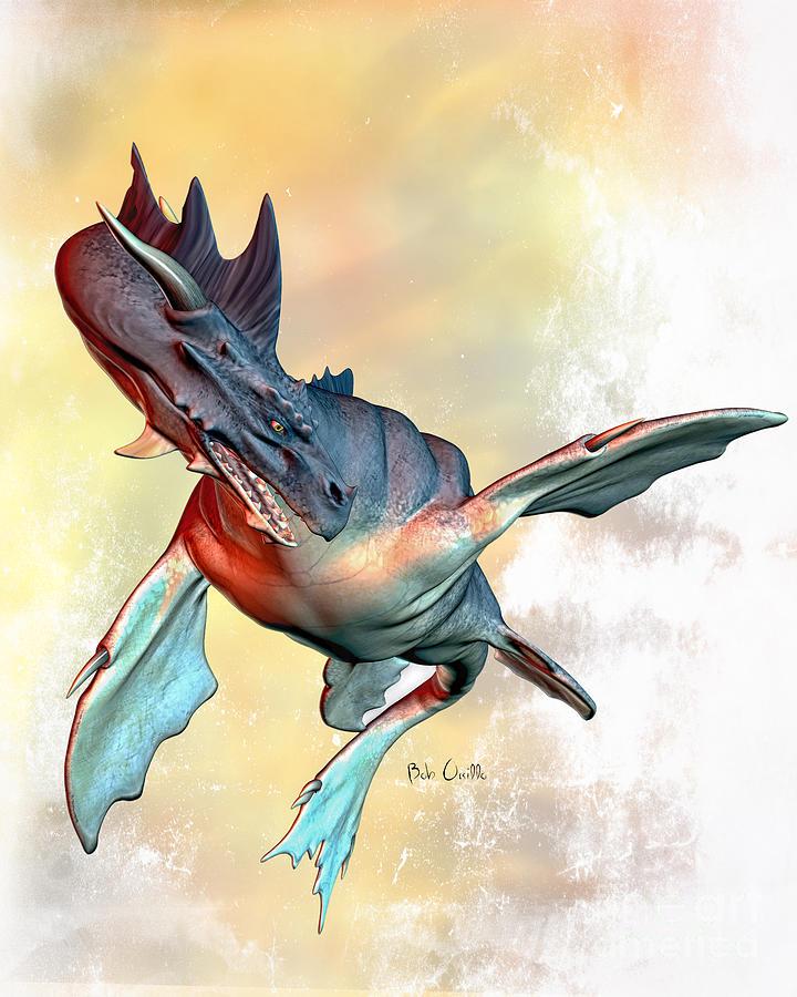 Dragons Digital Art - Water Dragon by Bob Orsillo