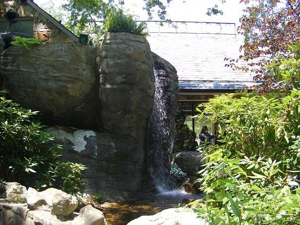 Water Fall Photograph - Water Fall At Rock City Gardens by Clare Staplehurst