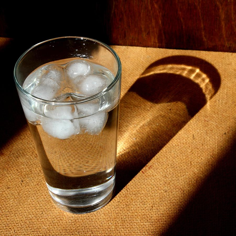 Water Photograph - Water Glass In Sun Light by Unknown
