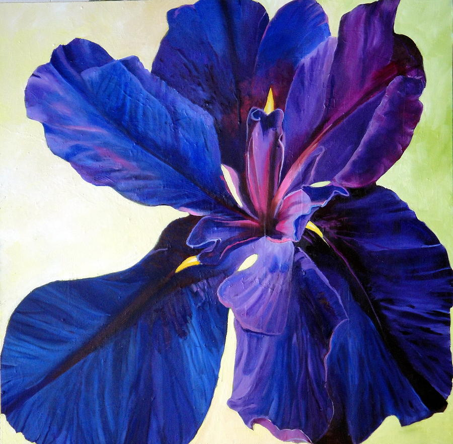 Floral Painting - Water Iris by Elaine Callahan