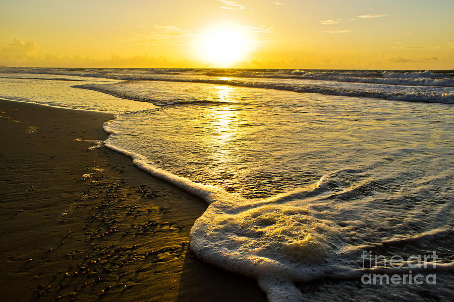 Beach Ocean Photograph - Water Line by Matthew Trudeau