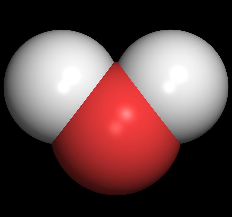 Water Photograph - Water Molecule by Friedrich Saurer