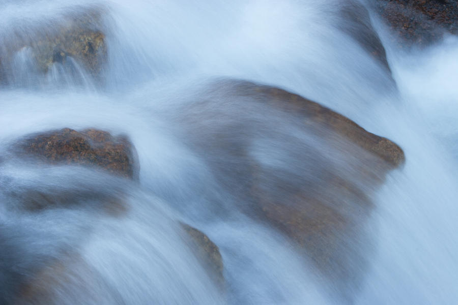 Rocks Photograph - Water Over Rocks by Maureen Bates