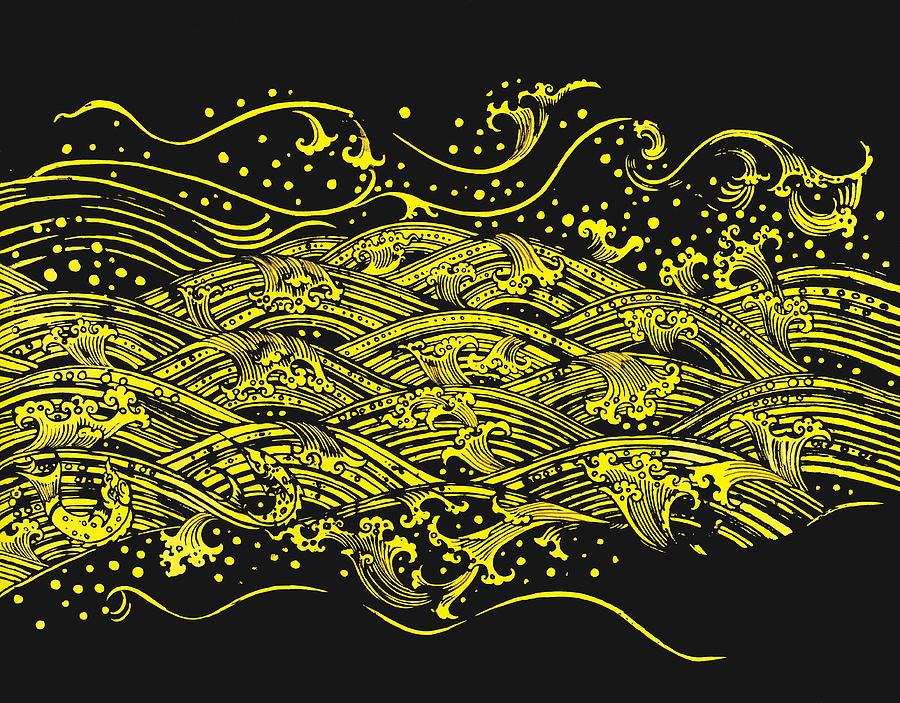 Ancient Painting - Water Pattern by Setsiri Silapasuwanchai