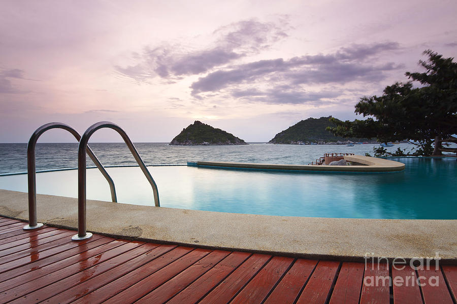 Architecture Photograph - Water Pool At Koh Tao South Of Thailand by Anusorn Phuengprasert nachol