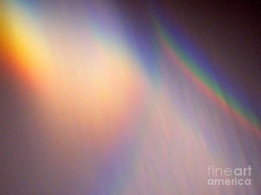 Eerie Photograph - Water Rainbow by Phyllis Kaltenbach