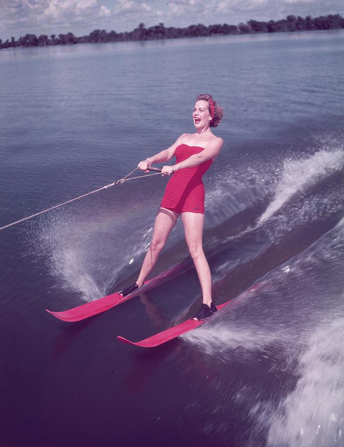 Young Adult Photograph - Water Skiing by Keystone