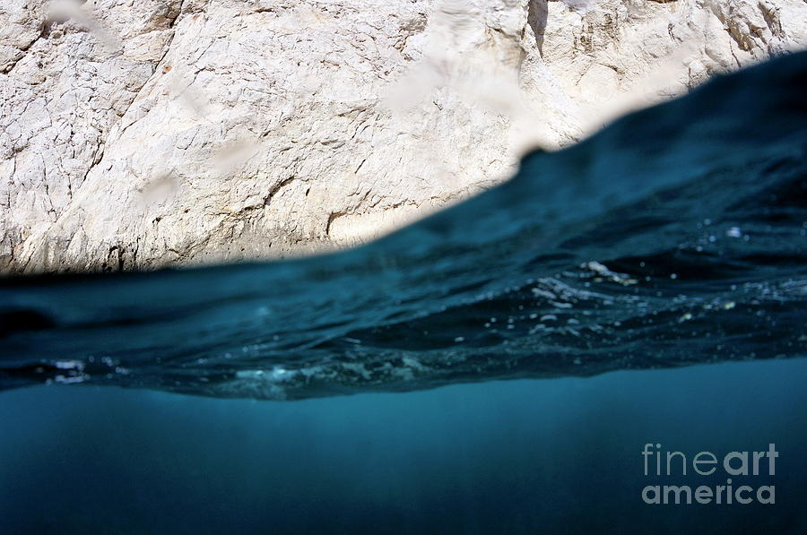 Purity Photograph - Water Surface Split Shot by Sami Sarkis