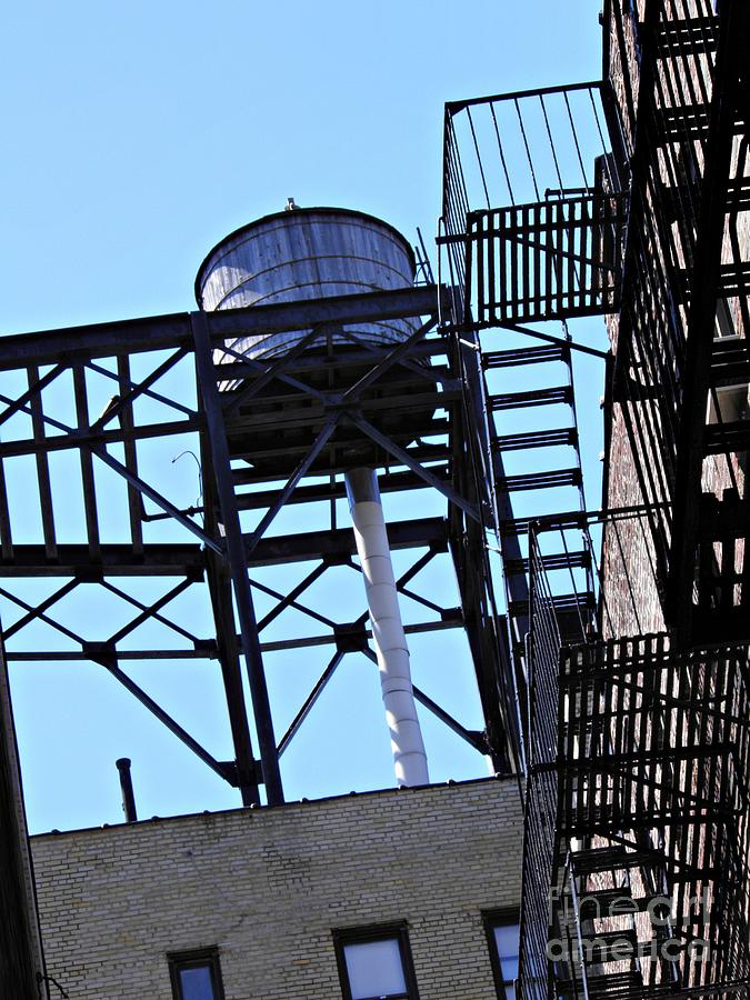 Water Tower In The Heights Photograph - Water Tower In The Heights by Sarah Loft