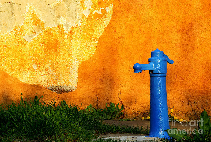 Antique Photograph - Water Well by Odon Czintos