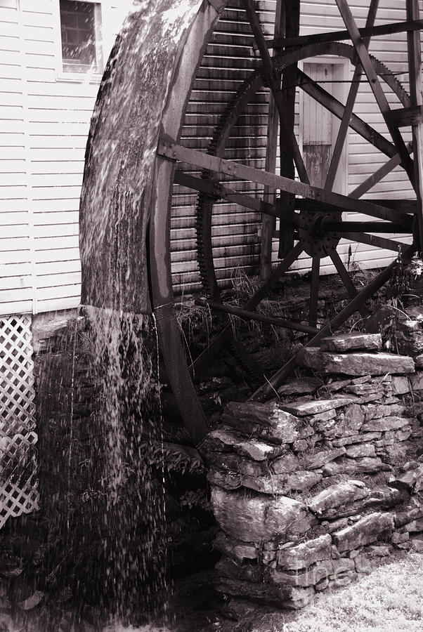 Mill Photograph - Water Wheel Old Mill Cherokee North Carolina  by Susanne Van Hulst