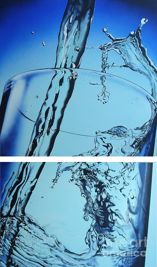 Water Painting - Water2heal by Rob Courtenay