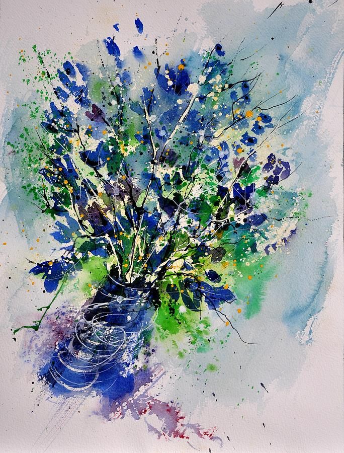 Flowers Painting - Watercolor 110190 by Pol Ledent
