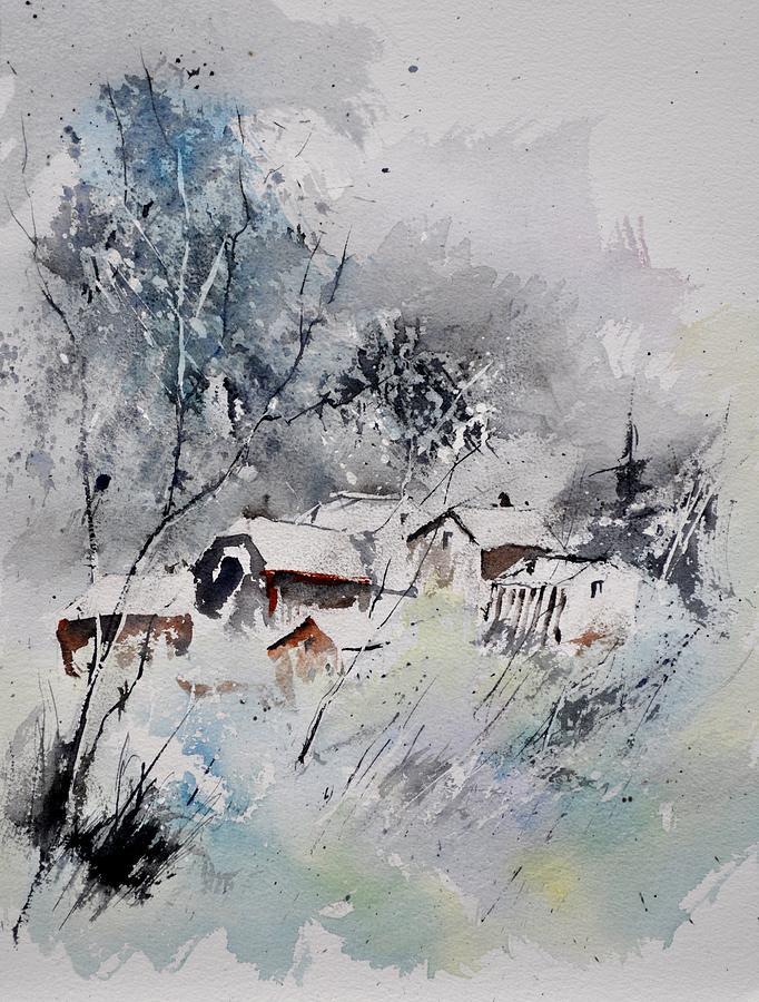 Landscape Painting - Watercolor 218042 by Pol Ledent